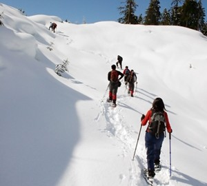 Looking for something fun to do? Try snowshoeing at the stunning Northstar California Resort.